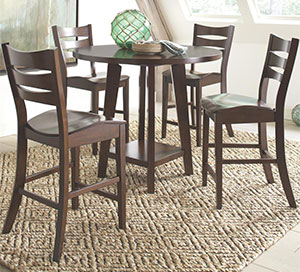 Modern Wooden Counter Height Dining Set