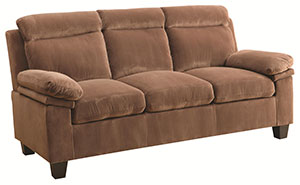Brown Microfiber Sofa